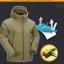 (437-001)เสื้อแจ็คเก็ตอเนกประสงค์สุดเท่ห์ กันฝน กันหนาว กันลม กันแดด สไตล์พืิ้นผิวปลาฉลามเสื้อคุณภาพดี thumbnail 2
