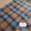 ผ้าทอญี่ปุ่น 1/4ม.(50x55ซม.) โทนสีน้ำตาลตัดสีฟ้า thumbnail 1