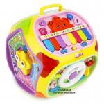 [เหลือง] กล่องกิจกรรม 7 ด้าน Educational Toy House