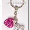 พวงกุญแจหัวใจคู่ ( Double Heart Keychain )
