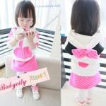 BabyCityชุดเสื้อมีฮูทพร้อมกางเกงกระโปรงสไตล์มินนี่