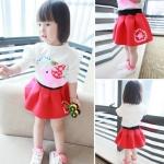 BabyCity ชุดเสื้อกระโปรงแดงเพื่อนพี่ช้าง
