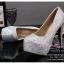 X-001 ขายรองเท้าเจ้าสาว รองเท้าแต่งงาน สวยหรู ดูดีราคาถูกกว่าเช่า สีเงิน thumbnail 2