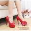X-004 ขายรองเท้าเจ้าสาว รองเท้าแต่งงาน สวยหรู ดูดีราคาถูกกว่าเช่า สีแดง thumbnail 1