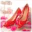 X-002 ขาย รองเท้าออกงาน ราคาถูก ใส่ไปงานแต่งงานกลางคืน ไปงานแต่งงานกลางวัน สวย หรู น่ารักมาก สีแดง เหมาะกับยกน้ำชา thumbnail 2
