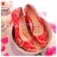 X-002 ขาย รองเท้าออกงาน ราคาถูก ใส่ไปงานแต่งงานกลางคืน ไปงานแต่งงานกลางวัน สวย หรู น่ารักมาก สีแดง เหมาะกับยกน้ำชา thumbnail 1